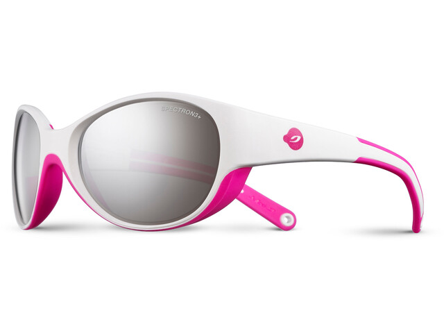 Julbo Lily Spectron 3+ Sunglasses Kids 4-6Y White/Fluorescent Pink-Gray Flash Silver